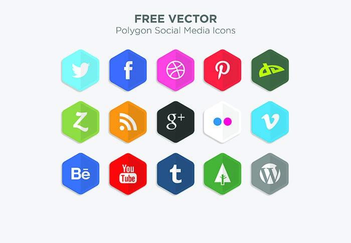 botones sociales vector