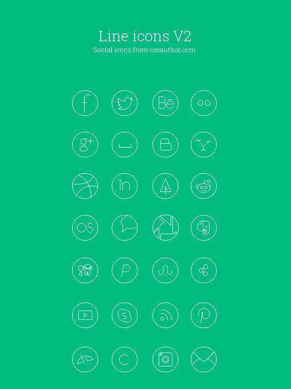 botones redes sociales gratis | iconos sociales lineales