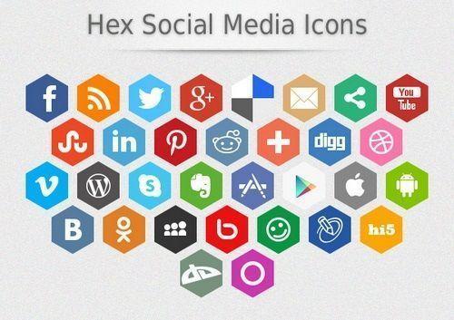 botones social media