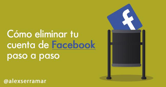 cómo eliminar cuenta facebook