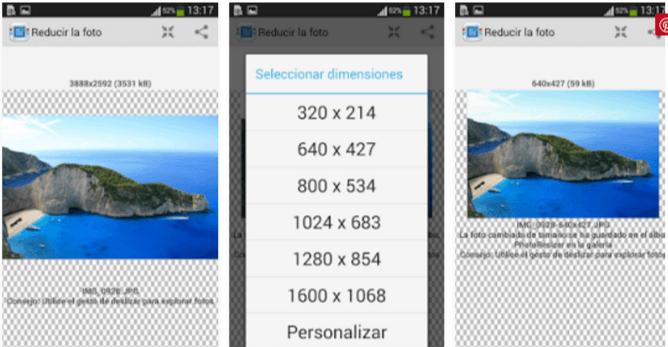 reducir imagen android