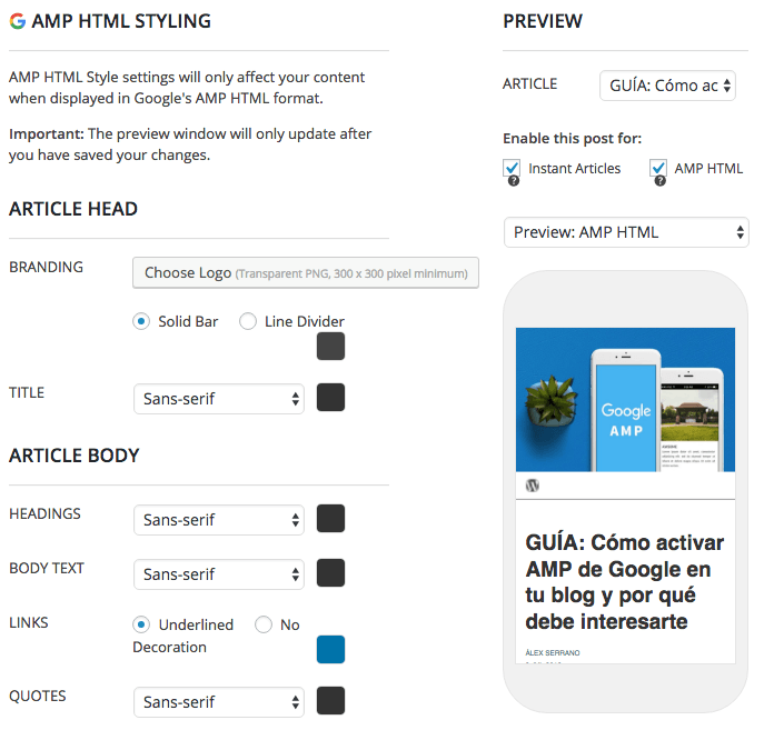 activar amp google | plugin frog