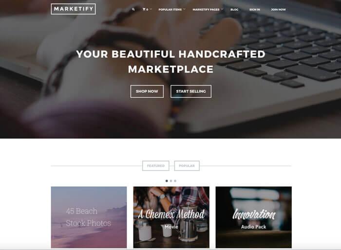 plantilla tienda online marketify