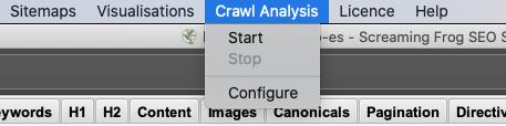screaming frog crawl analysis