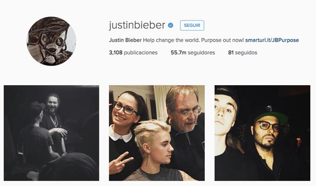 quién tiene más seguidores instagram | justin bieber