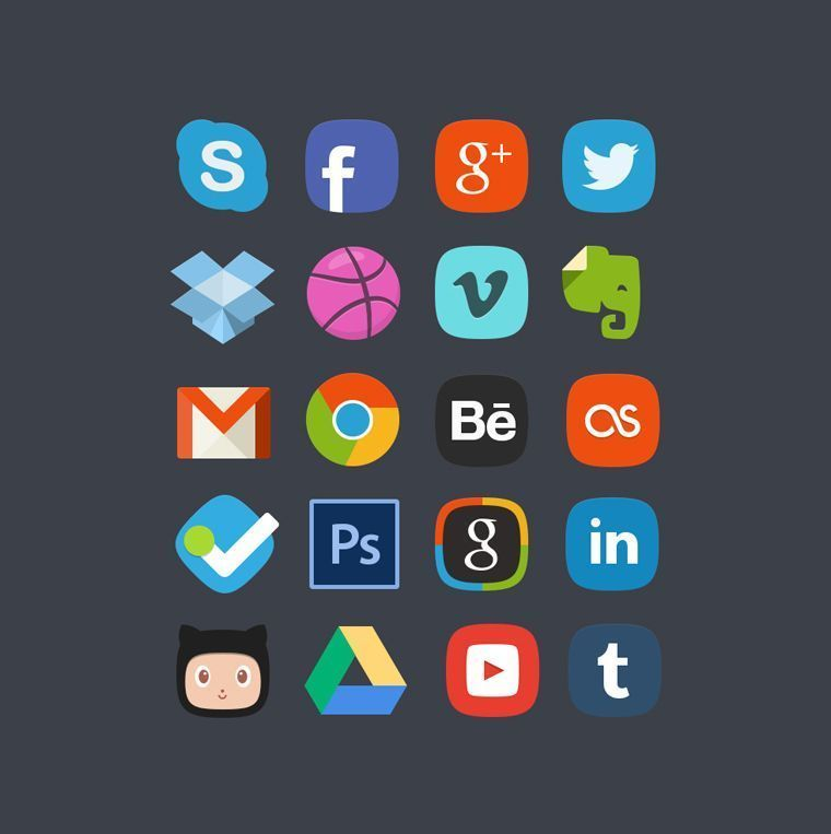 20 iconos social media