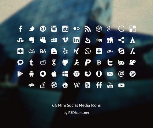 social media botones