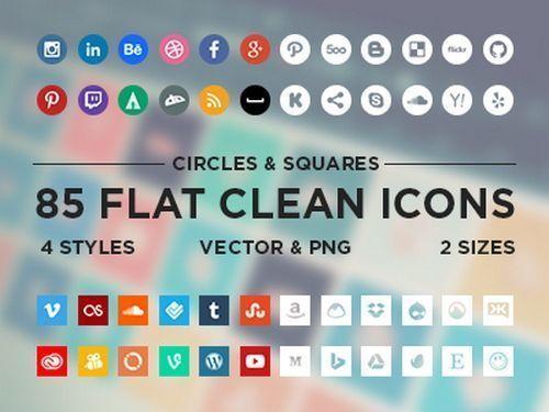 minimal icons socia