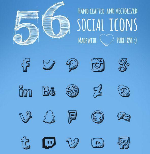 botones redes sociales gratis | hechos a mano