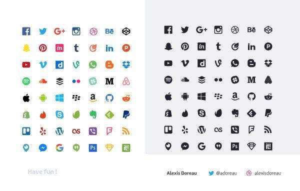 botones redes sociales gratis | social media iconos