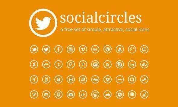 botones redes sociales redondos