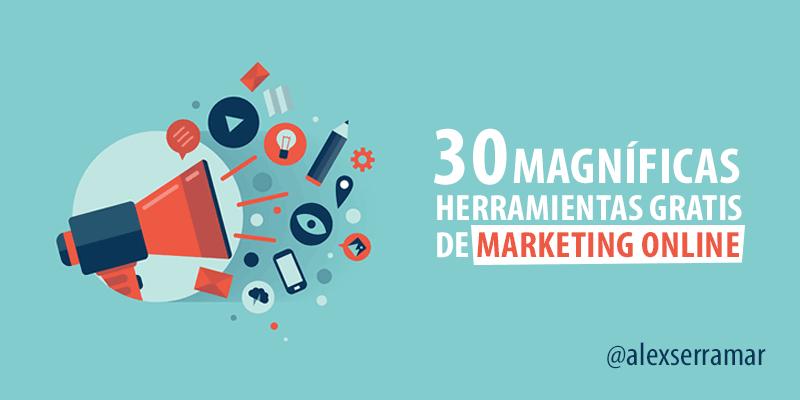 30 Herramientas gratis de Marketing Online que debes probar