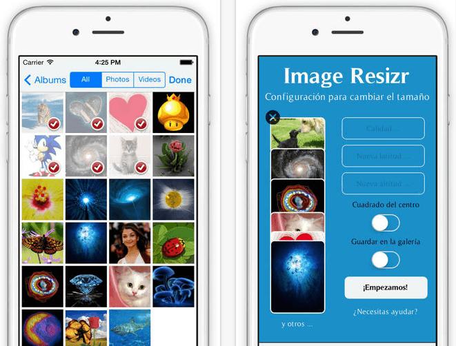 reducir tamaño foto iphone