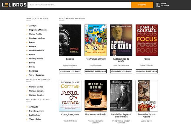 Páginas para Descargar Libros en PDF y Epub GRATIS sin registrarse