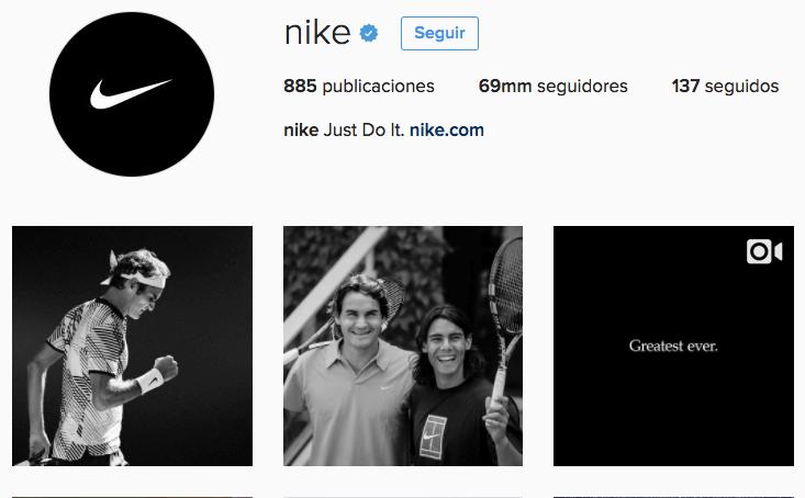 nike instagram más seguidos