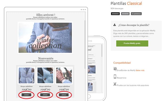 ejemplo newsletter ecommerce