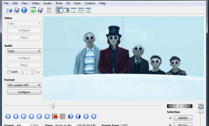 evidemux para editar videos
