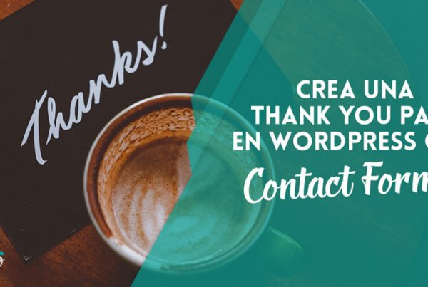 crear thank you page wordpress