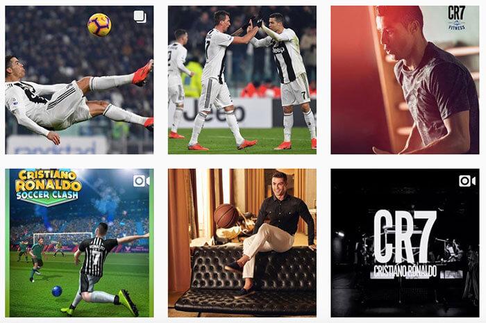 la cuenta con más seguidores en instagram - Cristiano