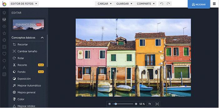 befunky para editar y retocar fotos online gratis