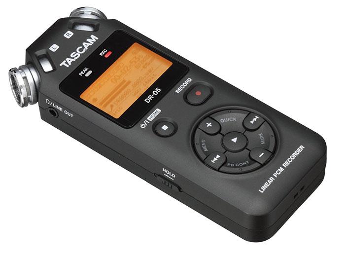 micro para podcast modelo tascam dr-05