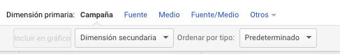 dimensión primaria Google Analytics