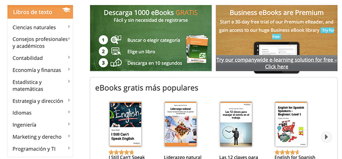 descarga de libros en pdf y epub gratis en español - bookboon