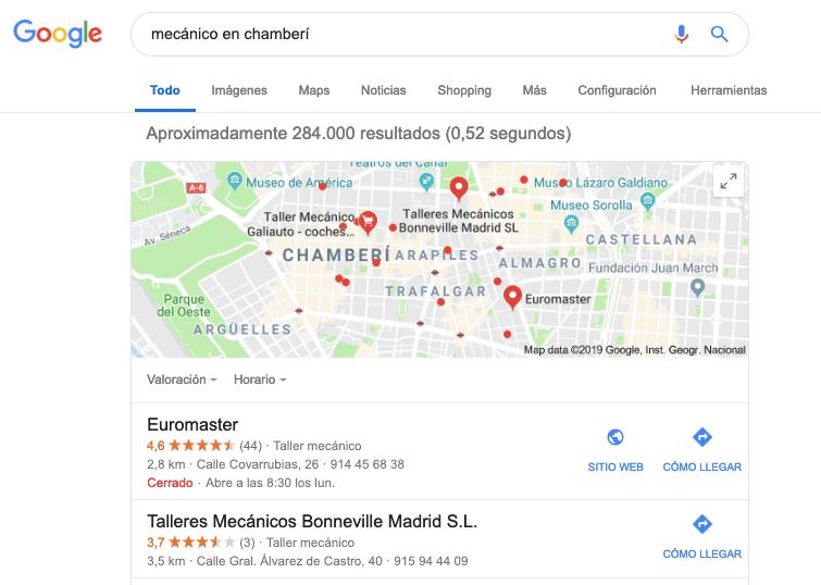 intención de búsqueda - visit