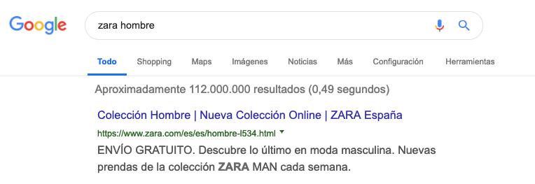 intención de búsqueda - website