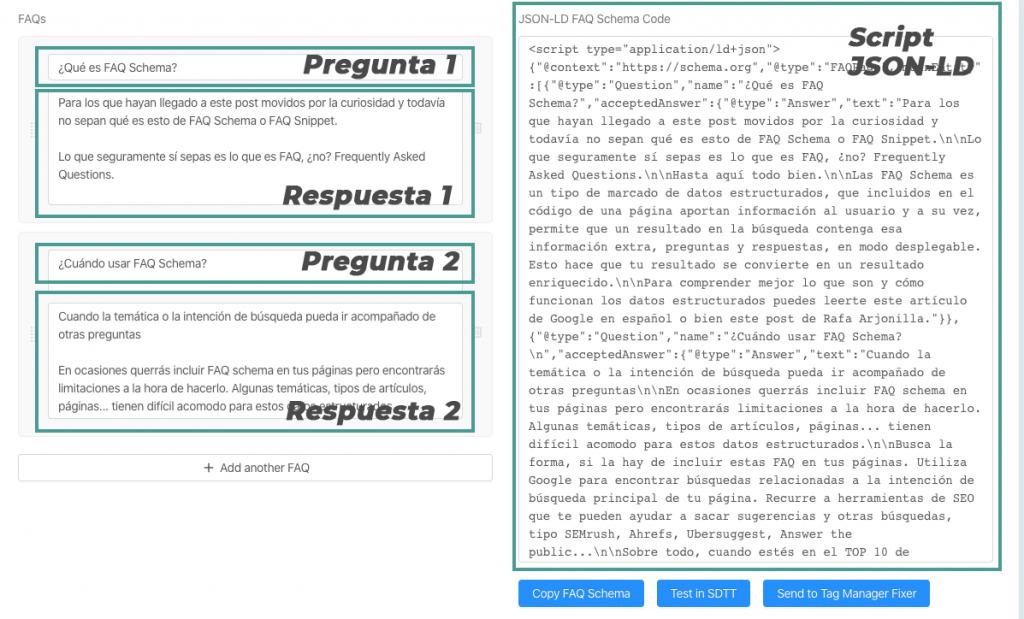 crear faq schema código para wordpress