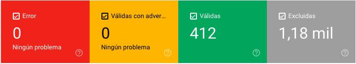 estados urls search console