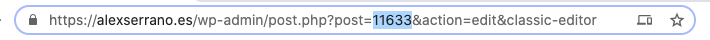 encontrar id página wordpress