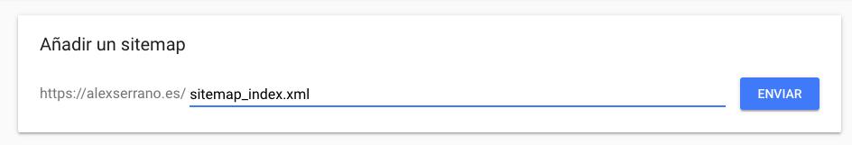 enviar sitemap a google en search console